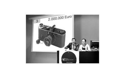 Leica 0-Serie für 2.4 Mio. Euro bei Westlicht versteigert
